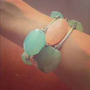 Handmade Colorful Wire Bangle Bracelets